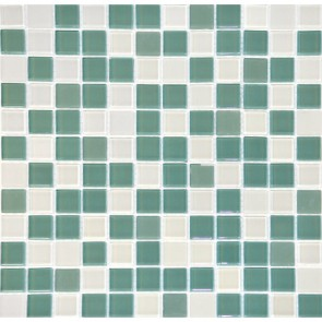 Мозаика Зеленый Микс 30х30