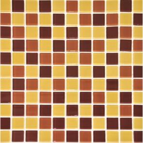 Мозаика Желто-коричневый Микс 30х30