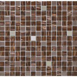 Мозаика Vivacer Коричневый микс 32.7х32.7