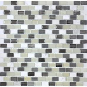 Мозаика Vivacer Grey мрамор 30х30