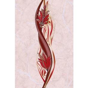 Декор Олександрія 20x30 рожевий