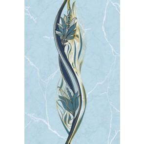 Декор Олександрія 20x30 блакитний