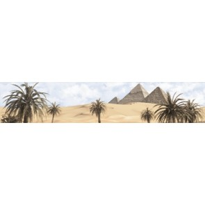 Бордюр Luxor голубой 30x6