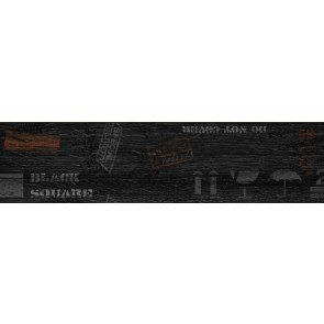Декор Sherwood 15х60 чорний