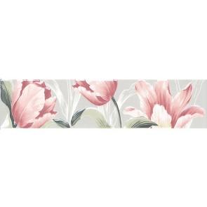 Бордюр Норфолк 30х7,2 квіти сірий