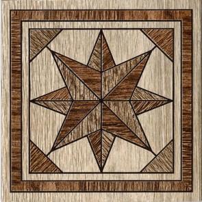 Декор Massima 15x15 коричневий