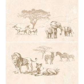 Панно Safari 46x40 коричневий