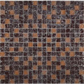 451 Мозаика микс коричневый колотый-бежевый колотый