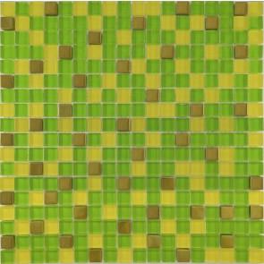 457 Мозаика микс зеленый-желтый-золото