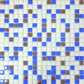466 Мозаика микс белый-голубой-платина