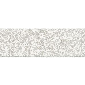 Декор Pret a Porter 25х75 white inserto flower