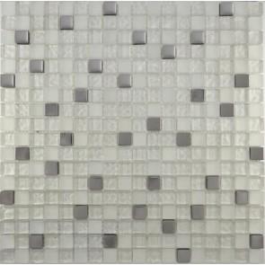 507 Мозаика микс металлик серебро