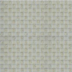 523 Мозаика шахматка бежевый матовый бежевый колотый