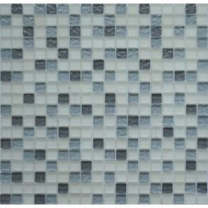579  Мозаика микс белый матовый серый светло-серый