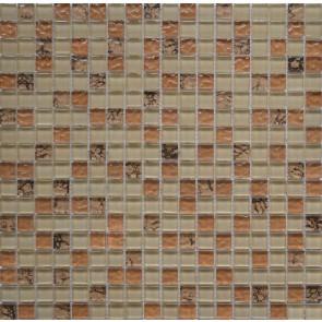582 Мозаика микс беж бронза рельеф камень