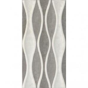 Декор VERONA Wave  bone-grey 30х60