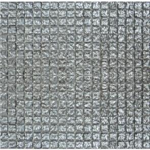 628 Мозаика моно платина рифленый
