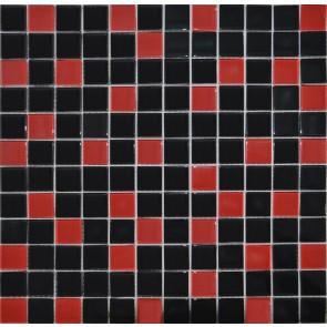 758 Мозаика микс красно-черный