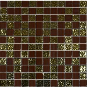 997 Мозаика микс кричневый-золото рифл.