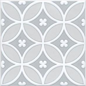 Декор Мурано 15х15 сірий