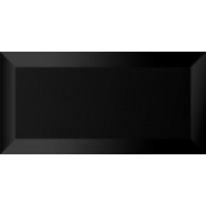 Плитка Стена Metrotile wall black 20x10