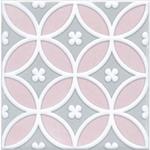 Декор Мурано 15х15 рожевий