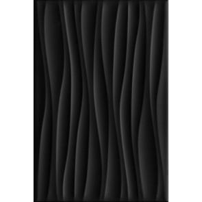 Плитка стена Карнавал в Венеции чёрный волна 20х30