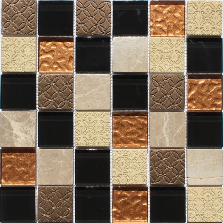 Мозаика Vivacer декор Mix Bronze 30х30